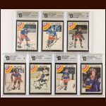 Lot of (7) 1978-79 OPC Colorado Rockies Autographed Cards – GAI Certified