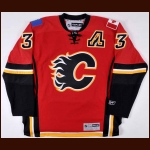 Dion Phaneuf Calgary Flames Autographed Replica Jersey – 3 Phaneuf Hologram