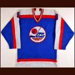1982-83 Doug Smail Winnipeg Jets Game Worn Jersey - Photo Match