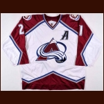 1998-99 Peter Forsberg Colorado Avalanche Game Worn Jersey - 1st Team NHL All Star – Letter From Former Avalanche Equipment Manager