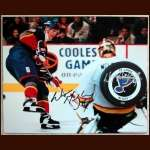 Wayne Gretzky Blues Autographed 8x10 Photo and Puck