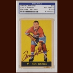 Tom Johnson 1960 Parkhurst - Montreal Canadiens - Autographed - Deceased - PSA/DNA