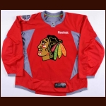 2015 Marcus Kruger Chicago Blackhawks Winter Classic Practice Worn Jersey  - Photo Match – Team Letter