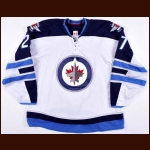 2013-14 Eric Tangradi Winnipeg Jets Game Worn Jersey - Photo Match – Team Letter
