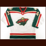 2000-01 Jim Dowd Minnesota Wild Game Worn Jersey - Inaugural Season