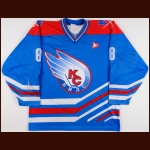 2000-01 Vladimir Loginov Soviet Wings Game Worn Jersey