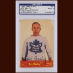 "Irvine ""Ace"" Bailey 1955 Parkhurst – Toronto Maple Leafs – Autographed – Deceased – PSA/DNA"