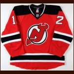 2009-10 Brian Rolston New Jersey Devils Game Worn Jersey - Photo Match