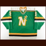 1990-91 Jim Johnson Minnesota North Stars Game Worn Jersey - Photo Match