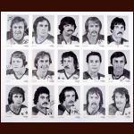 Lot of (15) 1974-75 Washington Capitals Autographed B&W Team Postcards - First Year Capitals - 4 deceased players