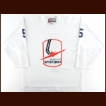 Early 1990's Windsor Spitfires Practice Worn Jersey – Player #5