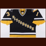 Mid 1990's Ken Wregget Pittsburgh Penguins Game Worn Jersey