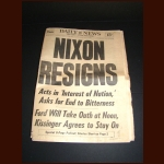 "DAILY NEWS -  ""PRESIDENT NIXON RESIGNS"" FRIDAY AUGUST 9, 1974 - Lot of 2"