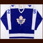 1979-80 Terry Martin Toronto Maple Leafs Game Worn Jersey + Locker Room Nameplate