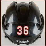 Dave Bolland Chicago Blackhawks Black Reebok Game Worn Helmet