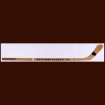 Bobby Orr Boston Bruins Victoriaville Game Used Stick – Autographed by the 1972-73 Bruins Team Including Jacques Plante