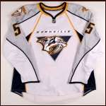 2008-09 Greg Zanon Nashville Predators Game Worn Jersey - Team Letter