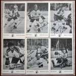 1975-76 Scouts Autographed Photo Card Group of 6