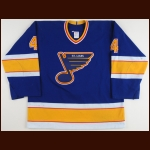 1993-94 Rick Zombo St. Louis Blues Game Worn Jersey – Team Letter