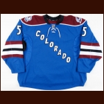 2011-12 Shane O'Brien Colorado Avalanche Game Worn Jersey – Alternate - Photo Match – Team Letter