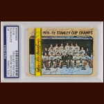 Boston Bruins Team Card 1972 Topps – Team Signed – Stanley Cup Season – PSA/DNA