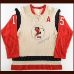 "1969-70 Yves Locas Providence Reds Game Worn Jersey - Autographed by Mr. Red ""Zellio Toppazzini"" – Deceased"