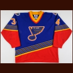 1997-98 Michel Picard St. Louis Blues Game Worn Jersey