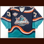"1996-97 Dennis Vaske New York Islanders Pre-Season Game Worn Jersey - Fisherman Crest – ""25-year Anniversary"""