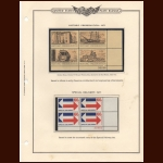 U.S. Plate Block Stamp Collection In Collectors Padded Album