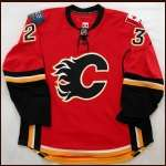 2007-08 Eric Nystrom Flames Game Worn Jersey - Team Letter