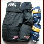 Alex Zhitnik Pants and Toni Lydman Gloves from the Buffalo Sabres