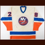 1980-81 Hector Marini New York Islanders Pre-Season Game Worn Jersey - Stanley Cup Season