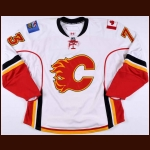 2007-08 Devin Didiomete Calgary Flames Training Camp Worn Jersey – Team Letter