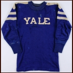 Late 1930's William Barnes Yale Bulldogs Game Worn Jersey
