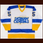 1984-86 Luc Gauthier Flint & Saginaw Generals Game Worn Jersey – Rookie
