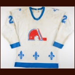 1981-82 Wally Weir Quebec Nordiques Game Worn Jersey - Career Best 173 PIMS