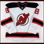 2008-09 Dainius Zubrus New Jersey Devils Game Worn Jersey - Photo Match - Team Letter
