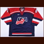 2002 Brett Hull Team USA Game Worn Jersey - 2002 Olympics - Photo Match - Brett Hull Letter