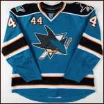 2008-09 Marc-Edouard Vlasic San Jose Sharks Game Worn Jersey