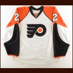 2009-10 Lukas Krajicek Philadelphia Flyers Game Worn Jersey – Team Letter