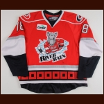 2007-08 Ryan Bayda Albany River Rats Game Worn Jersey – AHL Letter