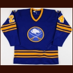 1979-81 Bill Hajt Buffalo Sabres Game Worn Jersey - Photo Match