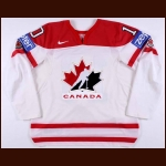 "2008 Patrick Sharp Team Canada World Championships Game Worn Jersey – ""100-year IIHF"""