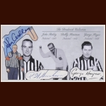 John Ashley, Bobby Hewitson & George Hayes Autographed Card - The Broderick Collection - Deceased