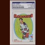 Jean Ratelle 1971 Topps - New York Rangers - Autographed - PSA/DNA