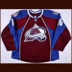 2011-12 Jay McClement Colorado Avalanche Game Worn Jersey