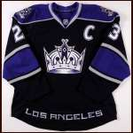 2010-11 Dustin Brown Los Angeles Kings Game Worn Jersey - Team Letter