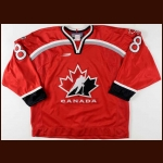 1998 Mark Recchi Team Canada Olympics Game Worn Jersey - Team Canada Letter
