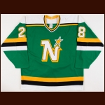 1988-89 Gord Dineen Minnesota North Stars Game Worn Jersey