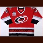 "2000-01 Josef Vasicek Carolina Hurricanes Pre-Season Game Worn Jersey – Rookie – ""3"" – ""Inaugural Raleigh Arena Patch"" - Member of the 2011 KHL Lokomotiv Tragedy – Autographed – Photo Match"